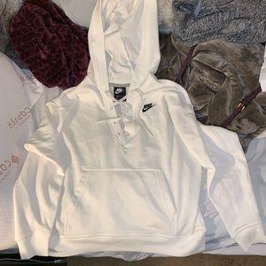 NWOT white nike hoodie